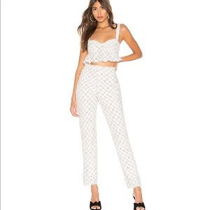 0232 NWT Louis Pant in Ivory Lovers + Friends